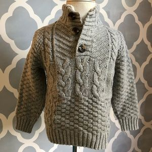 Adorable mock-neck cable knit boys sweater NWOT